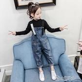女童吊帶褲 女童秋裝套裝2019新款兒童洋氣時髦中大童吊帶褲韓版