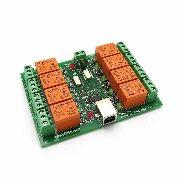Denkovi USB 8 Channel 自動化繼電器板 12VDC Relay Board for Automation [2美國直購]