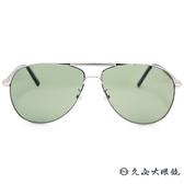 MONTBLANC 萬寶龍眼鏡 MB512T 16R (銀) 經典雙槓 偏光太陽眼鏡 久必大眼鏡