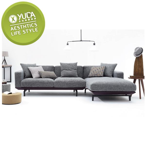 沙發【YUDA】愛爾蘭 面右 L型沙發 沙發 J0S 128-3