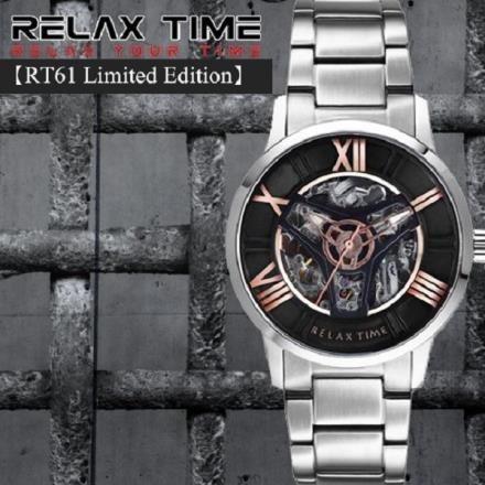 【南紡購物中心】RELAX TIME【RT61 Limited Edition】限量機械錶款-銀/玫瑰金RT-61-6公司貨