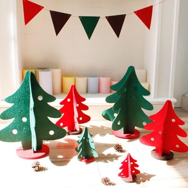 聖誕節 ZAKKA雜貨不織布紅綠立體聖誕樹迷你版/聖誕擺飾配件裝置藝術【ME010】