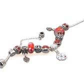 手鍊 串珠-琉璃飾品紅色雪花生日情人節禮物女配件73bg25【時尚巴黎】