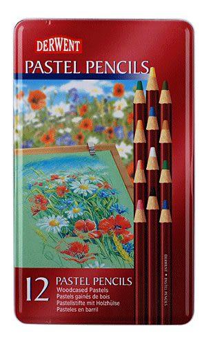 英國Derwent Pastel Pencils系列/12色彩色粉彩色鉛筆*32991