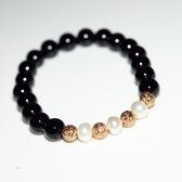 【喨喨飾品】珍珠/瑪瑙 流行手鍊 高雅魅力A210