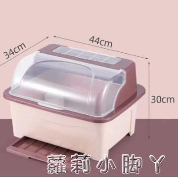 廚房碗碟碗盤收納架盤子瀝水碗架裝碗筷收納箱放碗餐具盒帶蓋碗柜 NMS蘿莉新品