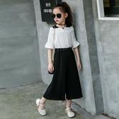 女童套裝夏裝新款時尚中大童洋氣裙褲兒童裝夏季寬管褲兩件套  9號潮人館