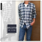 【大盤大】(S31323) 男 100%棉 現貨 口袋 長袖襯衫 經典格紋 M-2XL 法蘭絨襯衫 格子 薄外套 輕刷毛
