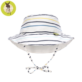 德國Lassig-嬰幼兒抗UV海灘遮陽帽-線條藍