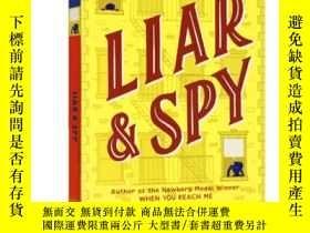 二手書博民逛書店窗後的少年罕見英文原版小說 Liar and Spy 紐伯瑞金獎