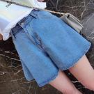 (全館一件免運)DE SHOP~寬鬆高腰半身裙褲牛仔短褲裙 。S/M/L 【A-1109】