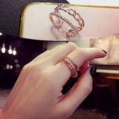 戒指開口個性時尚簡約戒指女單身食指指環小尾戒韓版網紅INS潮冷淡風 時尚新品