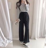 正韓國春裝新款腰圍彈性棉感休閒褲 花漾小姐【預購】