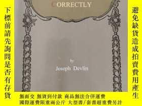 二手書博民逛書店HOW罕見TO SPEAK AND WRITE CORRECTLYY209021 Joseph Devlin
