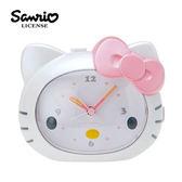 【日本進口】Hello Kitty 凱蒂貓 大臉造型 說話鬧鐘 鬧鐘 時鐘 燈光設計 三麗鷗 Sanrio - 492383
