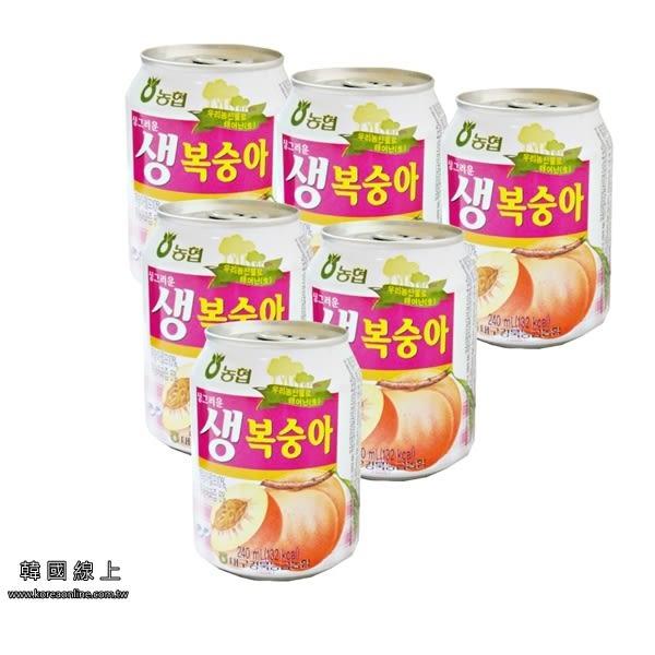 韓國Haitai海太水蜜桃果汁禮盒(240ml x12罐) 【訂購第二盒(含)以上請選宅配】