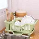 創意廚房放碗架瀝水架置物架 塑料收納架餐具架子碗筷收納盒碗柜5ATF