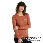 【icebreaker】Tech Lite II 女 羊毛圓領長袖上衣 AD150『柚橘』羊毛 吸濕 排汗 抑味 控溫 0A59IT