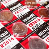 ☆樂樂購☆鐵馬星空☆日本 maxell CR2016水銀電池 / 鈕扣電池 一卡5顆入*(E12-015)