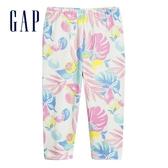Gap女幼童 舒適彈力鬆緊緊身褲 584207-藍色熱帶花卉