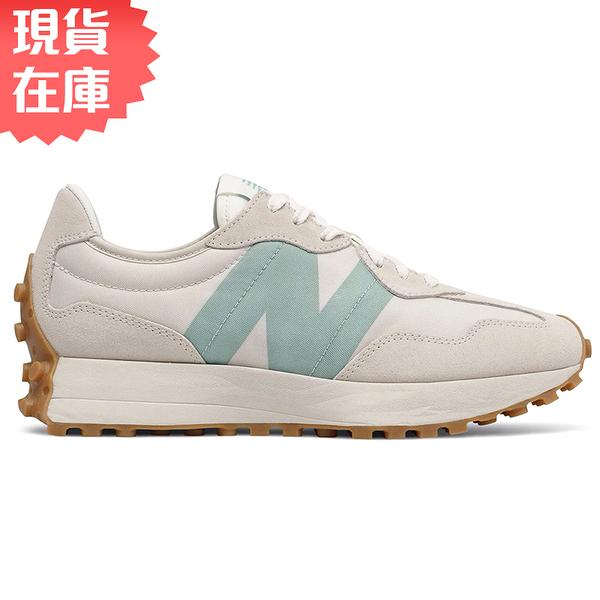 【現貨】New Balance 327 女鞋 休閒 復古 網眼 拼接 焦糖底 奶油藍【運動世界】WS327HG1