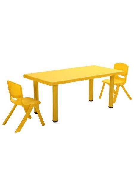 兒童書桌 學習桌幼兒園桌椅兒童桌子套裝寶寶玩具桌家用塑料學習書桌長方形小椅子