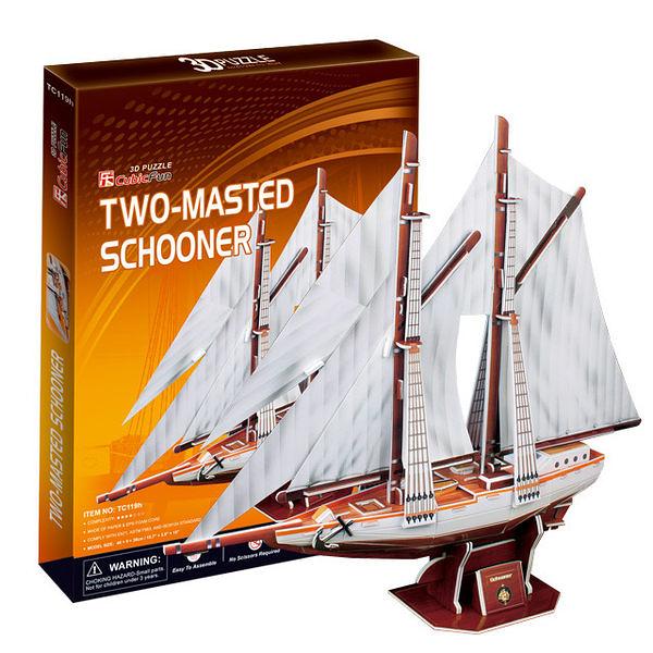 A1014【3D Puzzle 立體拼圖】古船系列-Two-masted schooner加拿大雙桅縱帆船