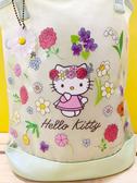 【震撼精品百貨】Hello Kitty_凱蒂貓~Sanrio HELLO KITTY防水手提包/透明防水包-花綠#05262
