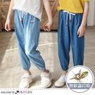 兒童動物刺繡縮口長褲 防蚊褲 牛仔褲