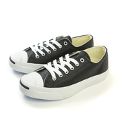 CONVERSE Jack Purcell Leather 休閒鞋 皮革 低筒 開口笑 黑色 男女鞋 UNISEX 1S962 no943