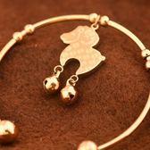 玫瑰金 純銀手環-鈴鐺小羊可愛流行生日情人節禮物女飾品71ap55【巴黎精品】