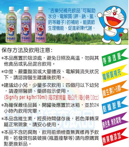 吉樂兒 哆啦A夢電解質/電解水補充飲品(蘋果)500ml【德芳保健藥妝】