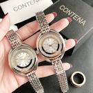 CONTENA 女鋼帶簡約大氣超薄女士手錶-6724Z
