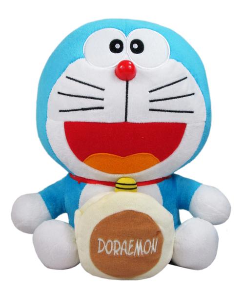 【卡漫城】 哆啦A夢 玩偶 銅鑼燒 ㊣版 Doraemon 絨毛娃娃 小叮噹 銅鑼燒 手機座 收藏