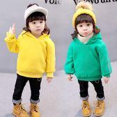 女寶寶冬裝上衣女童連帽打底衫1-3歲嬰兒冬季新款韓版小女孩衛衣 CY潮流站