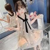 女童連身裙2020夏裝無袖洋裝新款韓版紗裙兒童裙子中大童超洋氣公主裙 LR19975『麗人雅苑』