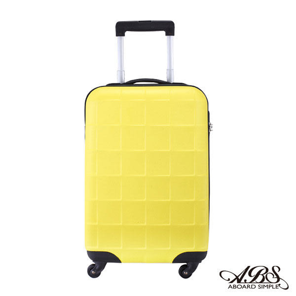 ABS愛貝斯 20吋 極輕ABS拉鍊霧面硬殼登機旅行箱(黃)90-026C