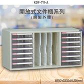 【100%台灣製造】大富KDF-711-A 開放式文件櫃 效率櫃 檔案櫃 文件收納 公家機關 學校 辦公收納 耐重