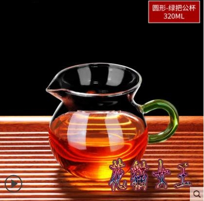 側把公道杯茶漏套裝分茶器玻璃單個茶海日本茶具過濾公平倒茶公倒杯LXY4885【花貓女王】