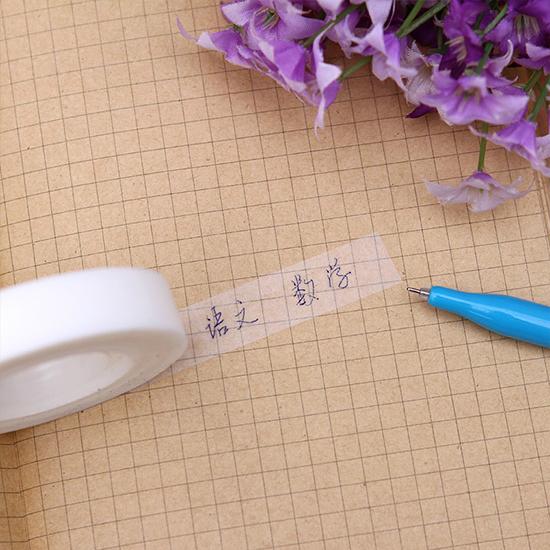 可寫字 無痕 膠帶紙 文具 學生 辦公 桌面 標籤 提醒 黏貼 透面膠帶(霧面)【E077】慢思行