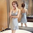吊帶睡裙女2021年新款胸墊蕾絲小性感睡衣女夏季薄款冰絲網紅爆款【快速出貨】