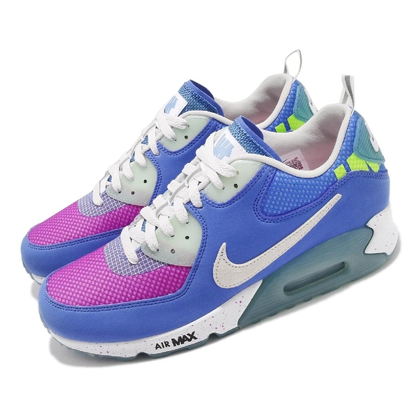 Nike 休閒鞋 Air Max 90 UNDFTD Undefeated 藍 桃紅 白 聯名【ACS】 CQ2289-400