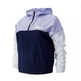 New Balance 女款紫藍白色拼接風衣外套-NO.AWJ91550PIW