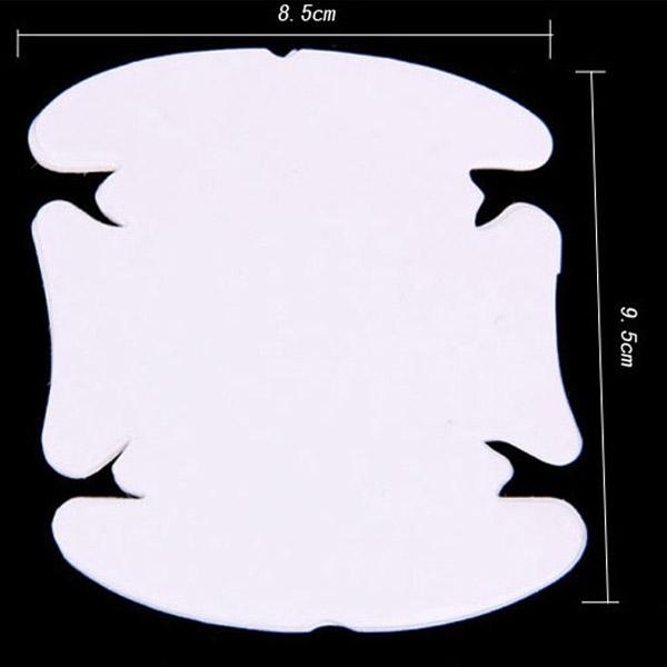 汽車門把手保護貼 4片裝 車門保護貼膜 保護車漆防刮傷 防刮耐磨透明膜【SV6562】BO雜貨