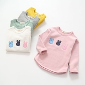 新品兒童打底衫女童小兔長袖T恤寶寶圓領插肩袖打底上衣