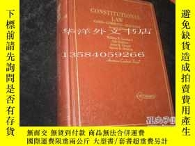 二手書博民逛書店【罕見】Constituional Law - Cases -
