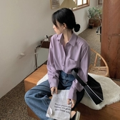 降價兩天 秋季韓版2020新款網紅慵懶風休閒POLO領寬鬆百搭長袖襯衫女裝ins