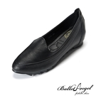 莫卡辛 職場通勤素面內增高鞋(黑)*BalletAngel【18-A0663bk】【現+預】