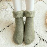 冬季加絨襪女加厚保暖毛襪厚中筒襪子冬天日系地板睡眠襪月子襪冬  可然精品