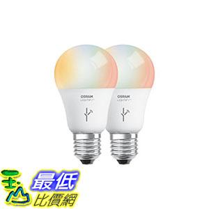[106美國直購] 燈泡 SYLVANIA SMART A19 Full Color  Tunable White LED Bulb 60W Equivalent 2-Pack 73693